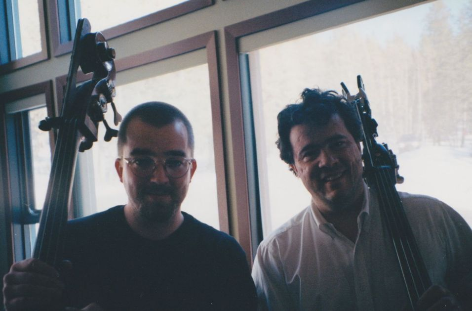 With Edgar Meyer at the Banff Centre, 2001
